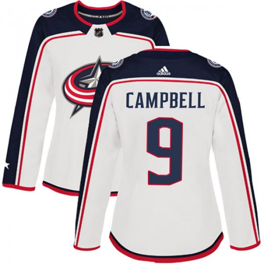 Gregory Campbell Columbus Blue Jackets Women's Adidas Authentic White Away Jersey