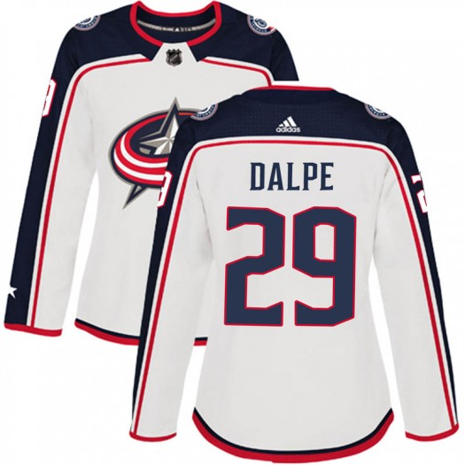 Zac Dalpe Columbus Blue Jackets Women's Adidas Authentic White Away Jersey