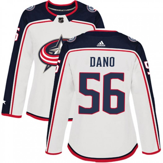 Marko Dano Columbus Blue Jackets Women's Adidas Authentic White Away Jersey
