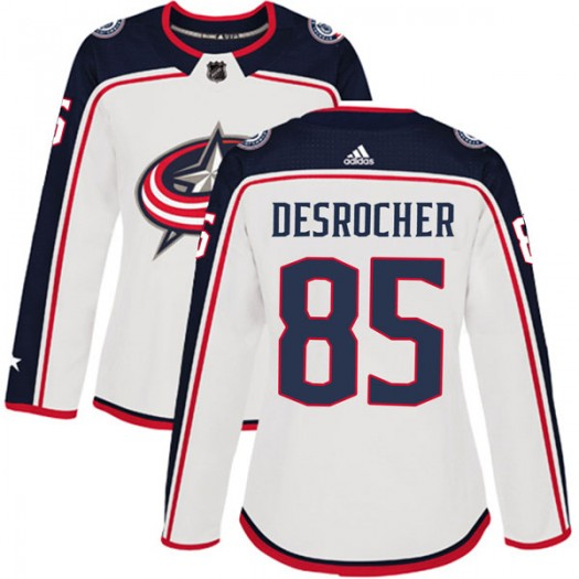Stephen Desrocher Columbus Blue Jackets Women's Adidas Authentic White Away Jersey