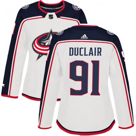 Anthony Duclair Columbus Blue Jackets Women's Adidas Authentic White Away Jersey