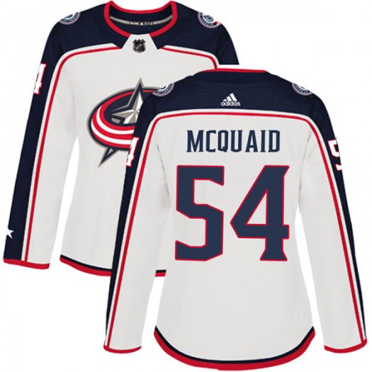 Adam McQuaid Columbus Blue Jackets Women's Adidas Authentic White Away Jersey