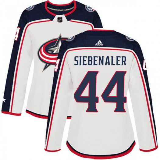 Blake Siebenaler Columbus Blue Jackets Women's Adidas Authentic White Away Jersey