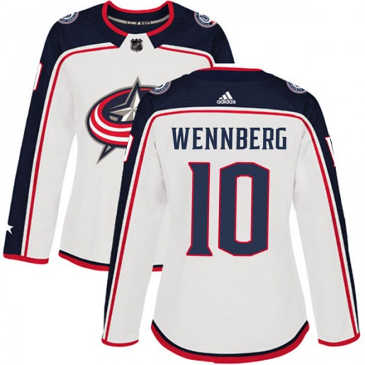 Alexander Wennberg Columbus Blue Jackets Women's Adidas Authentic White Away Jersey