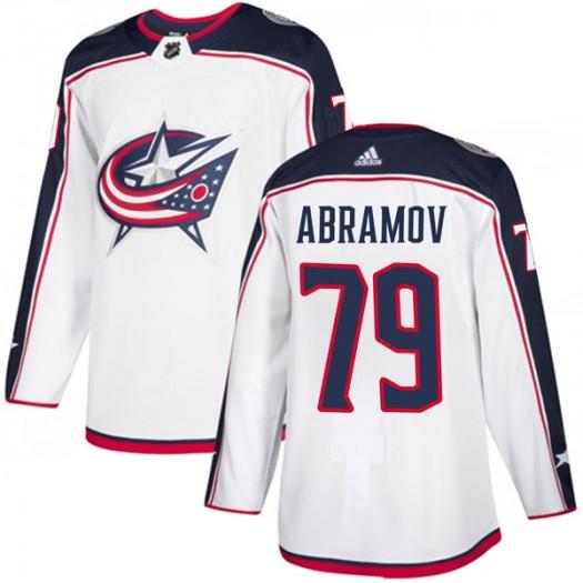 Vitaly Abramov Columbus Blue Jackets Youth Adidas Authentic White Away Jersey
