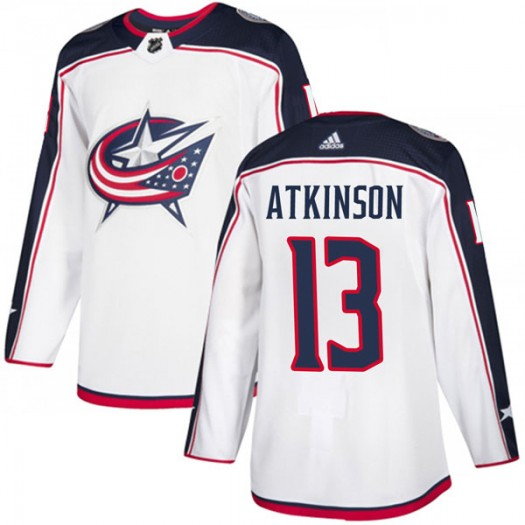 Cam Atkinson Columbus Blue Jackets Youth Adidas Authentic White Away Jersey