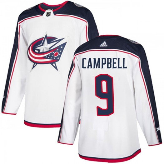 Gregory Campbell Columbus Blue Jackets Youth Adidas Authentic White Away Jersey