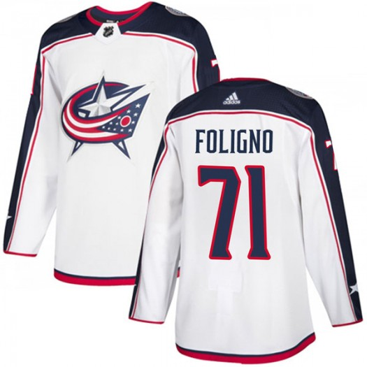 Nick Foligno Columbus Blue Jackets Youth Adidas Authentic White Away Jersey