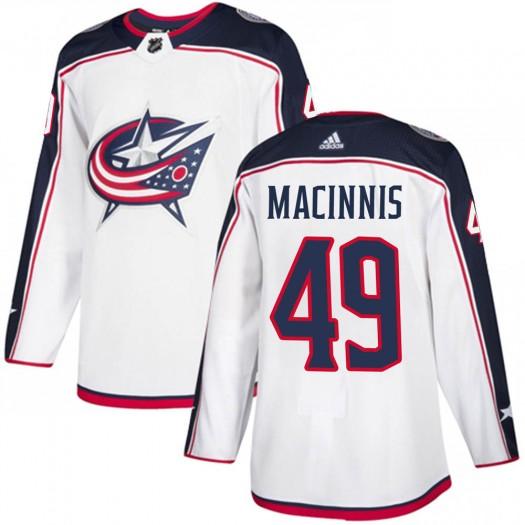 Ryan MacInnis Columbus Blue Jackets Youth Adidas Authentic White ized Away Jersey