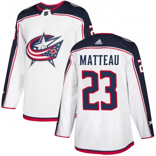 Stefan Matteau Columbus Blue Jackets Youth Adidas Authentic White ized Away Jersey