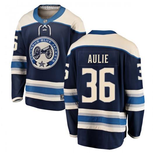 Keith Aulie Columbus Blue Jackets Men's Fanatics Branded Blue Breakaway Alternate Jersey