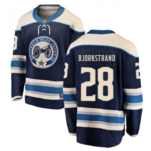 Oliver Bjorkstrand Columbus Blue Jackets Men's Fanatics Branded Blue Breakaway Alternate Jersey