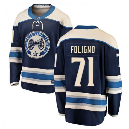Nick Foligno Columbus Blue Jackets Men's Fanatics Branded Blue Breakaway Alternate Jersey
