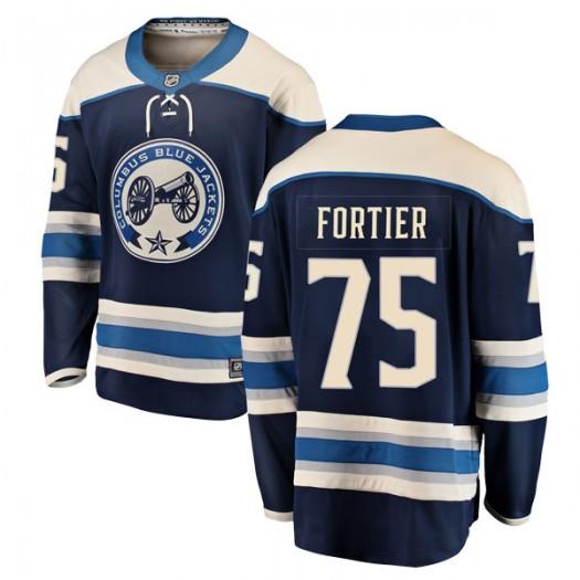 Maxime Fortier Columbus Blue Jackets Men's Fanatics Branded Blue Breakaway Alternate Jersey