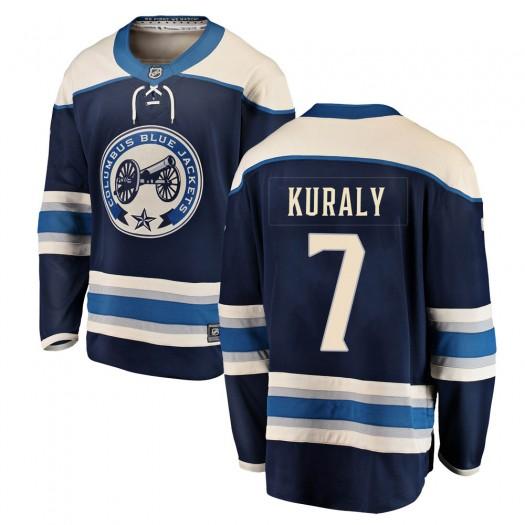 Sean Kuraly Columbus Blue Jackets Men's Fanatics Branded Blue Breakaway Alternate Jersey