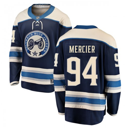 Medric Mercier Columbus Blue Jackets Men's Fanatics Branded Blue Breakaway Alternate Jersey