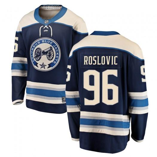 Jack Roslovic Columbus Blue Jackets Men's Fanatics Branded Blue Breakaway Alternate Jersey