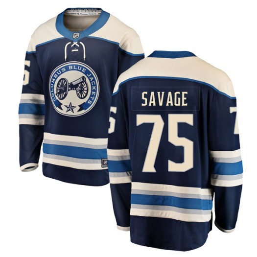 Scott Savage Columbus Blue Jackets Men's Fanatics Branded Blue Breakaway Alternate Jersey