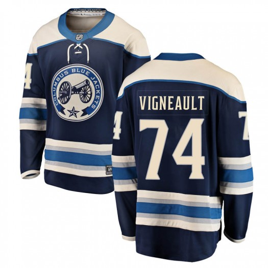 Sam Vigneault Columbus Blue Jackets Men's Fanatics Branded Blue Breakaway Alternate Jersey