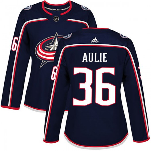 Keith Aulie Columbus Blue Jackets Women's Adidas Authentic Navy Home Jersey