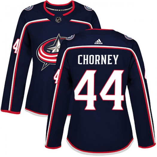 Taylor Chorney Columbus Blue Jackets Women's Adidas Authentic Navy Home Jersey