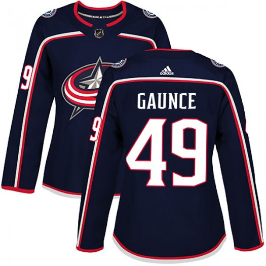 Cameron Gaunce Columbus Blue Jackets Women's Adidas Authentic Navy Home Jersey