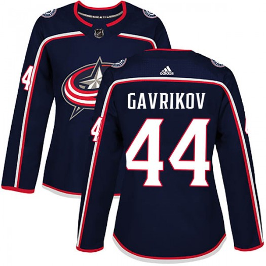 Vladislav Gavrikov Columbus Blue Jackets Women's Adidas Authentic Navy Home Jersey