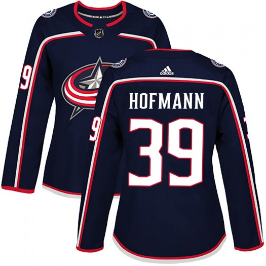 Gregory Hofmann Columbus Blue Jackets Women's Adidas Authentic Navy Home Jersey