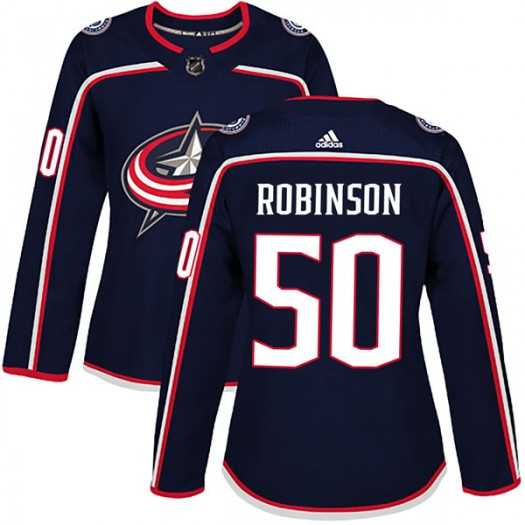 Eric Robinson Columbus Blue Jackets Women's Adidas Authentic Navy Home Jersey