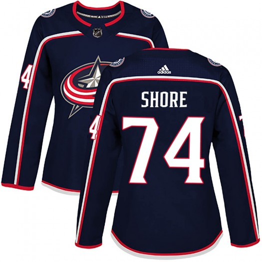 Devin Shore Columbus Blue Jackets Women's Adidas Authentic Navy ized Home Jersey