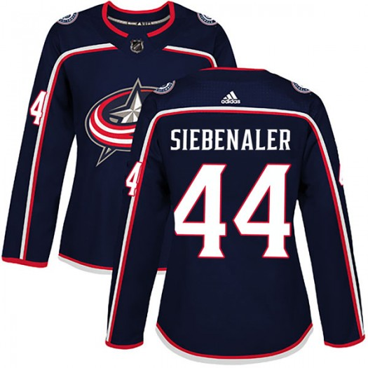 Blake Siebenaler Columbus Blue Jackets Women's Adidas Authentic Navy Home Jersey