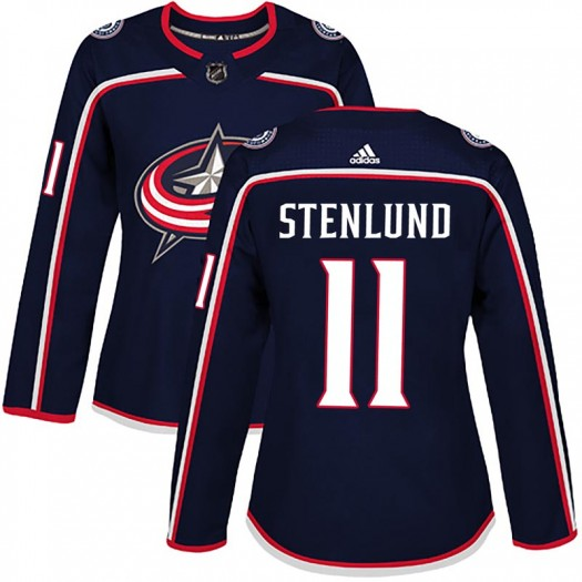 Kevin Stenlund Columbus Blue Jackets Women's Adidas Authentic Navy Home Jersey
