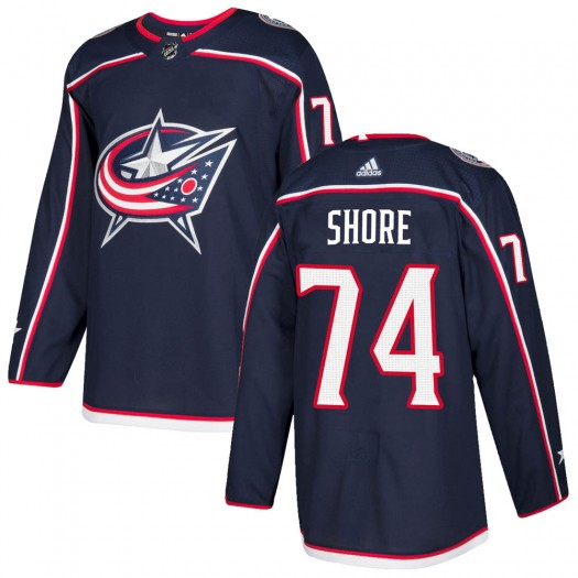 Devin Shore Columbus Blue Jackets Men's Adidas Authentic Navy ized Home Jersey