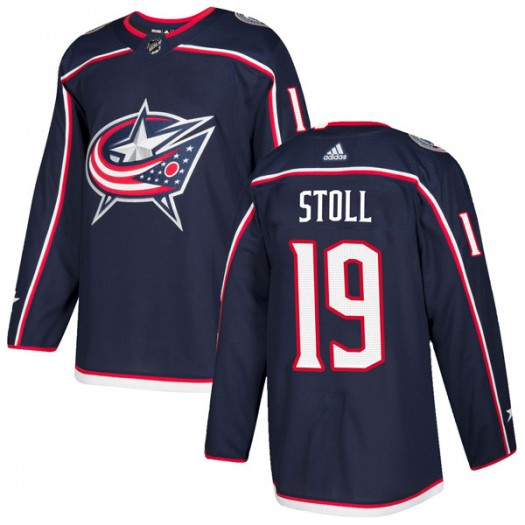 Jarret Stoll Columbus Blue Jackets Men's Adidas Authentic Navy Home Jersey