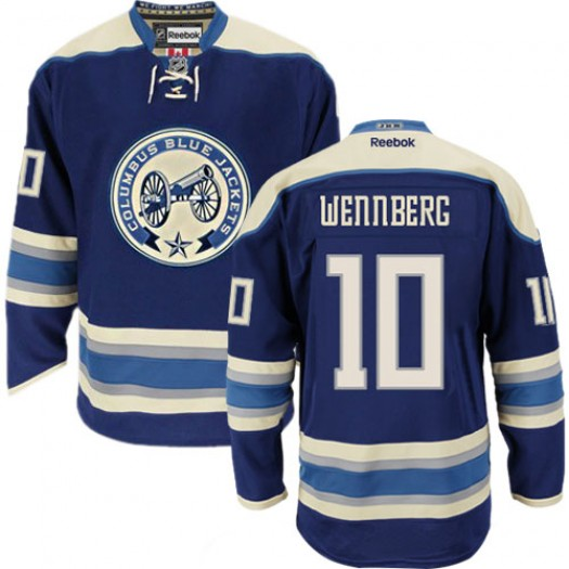 Alexander Wennberg Columbus Blue Jackets Men's Reebok Authentic Navy Blue Third Jersey