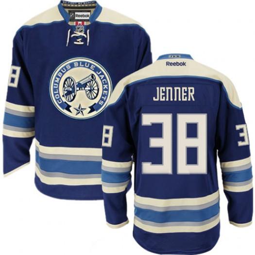 Boone Jenner Columbus Blue Jackets Men's Reebok Authentic Navy Blue Third Jersey