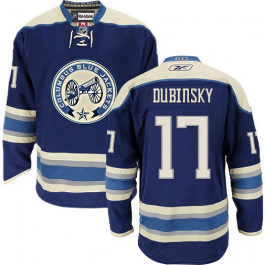 Brandon Dubinsky Columbus Blue Jackets Men's Reebok Authentic Navy Blue Third Jersey
