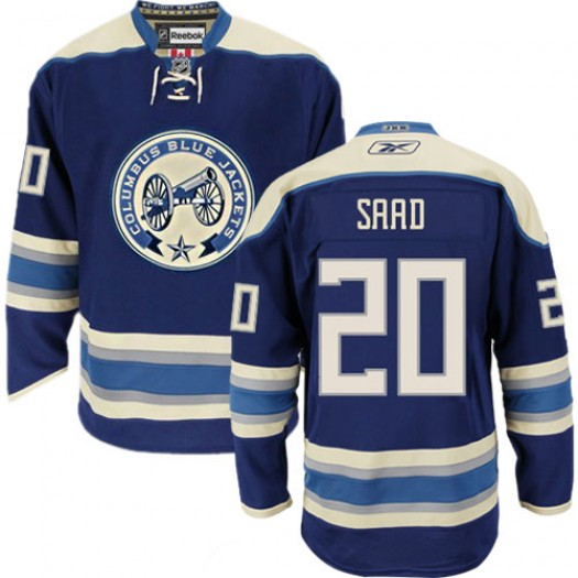 Brandon Saad Columbus Blue Jackets Men's Reebok Authentic Navy Blue Third Jersey