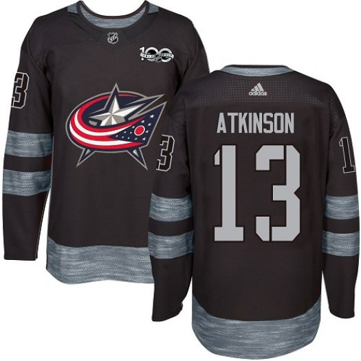 Cam Atkinson Columbus Blue Jackets Men's Adidas Premier Black 1917-2017 100th Anniversary Jersey