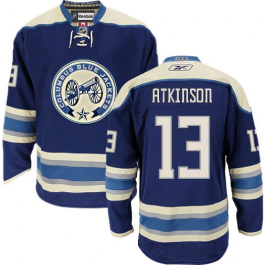 Cam Atkinson Columbus Blue Jackets Men's Reebok Premier Navy Blue Third Jersey