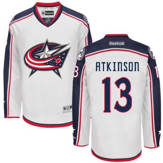 Cam Atkinson Columbus Blue Jackets Men's Reebok Premier White Away Jersey