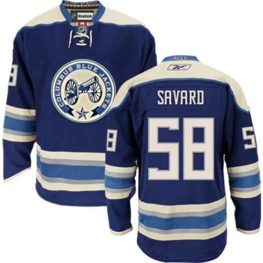 David Savard Columbus Blue Jackets Men's Reebok Premier Navy Blue Third Jersey