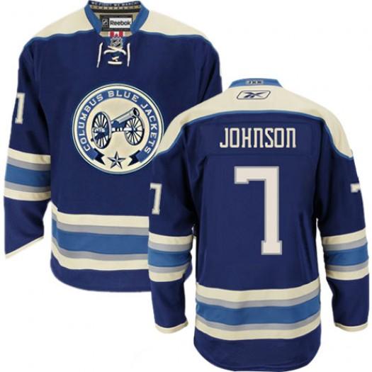 Jack Johnson Columbus Blue Jackets Men's Reebok Authentic Navy Blue Third Jersey