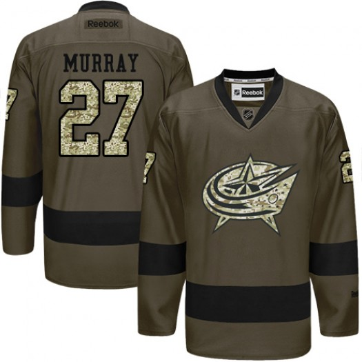 Ryan Murray Columbus Blue Jackets Men's Reebok Authentic Green Salute to Service Jersey