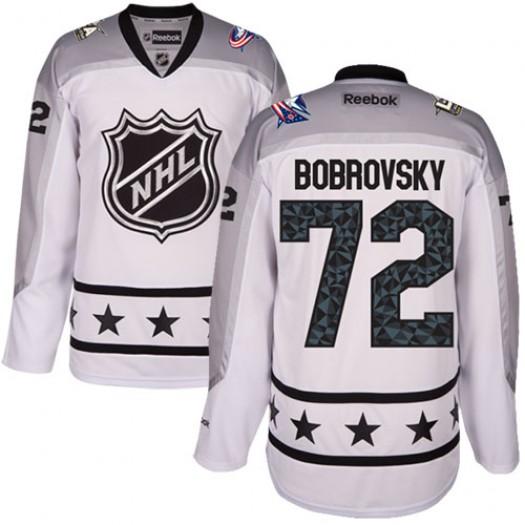 Sergei Bobrovsky Columbus Blue Jackets Men's Reebok Authentic White Metropolitan Division 2017 All-Star Jersey