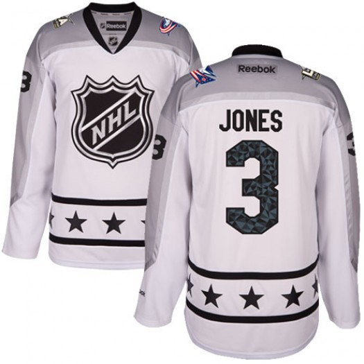 Seth Jones Columbus Blue Jackets Women's Reebok Authentic White Metropolitan Division 2017 All-Star Jersey