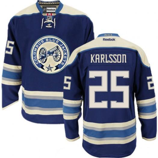 William Karlsson Columbus Blue Jackets Men's Reebok Premier Navy Blue Third Jersey