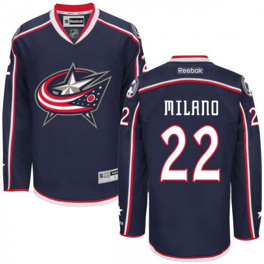Sonny Milano Columbus Blue Jackets Men's Reebok Replica Navy Home Jersey