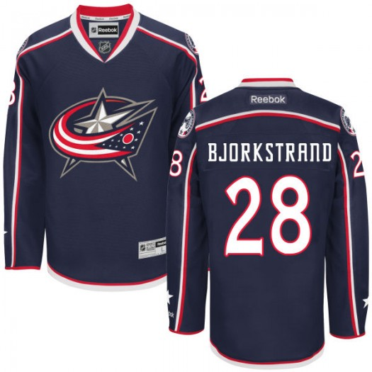 Oliver Bjorkstrand Columbus Blue Jackets Men's Reebok Authentic Navy Home Jersey