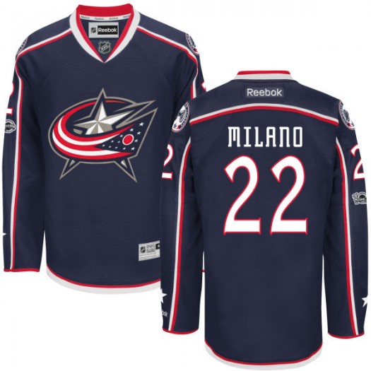 Sonny Milano Columbus Blue Jackets Youth Reebok Authentic Navy Home Centennial Patch Jersey